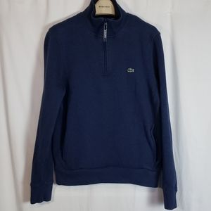 Lacoste 1/4 zip up pull over Sweater